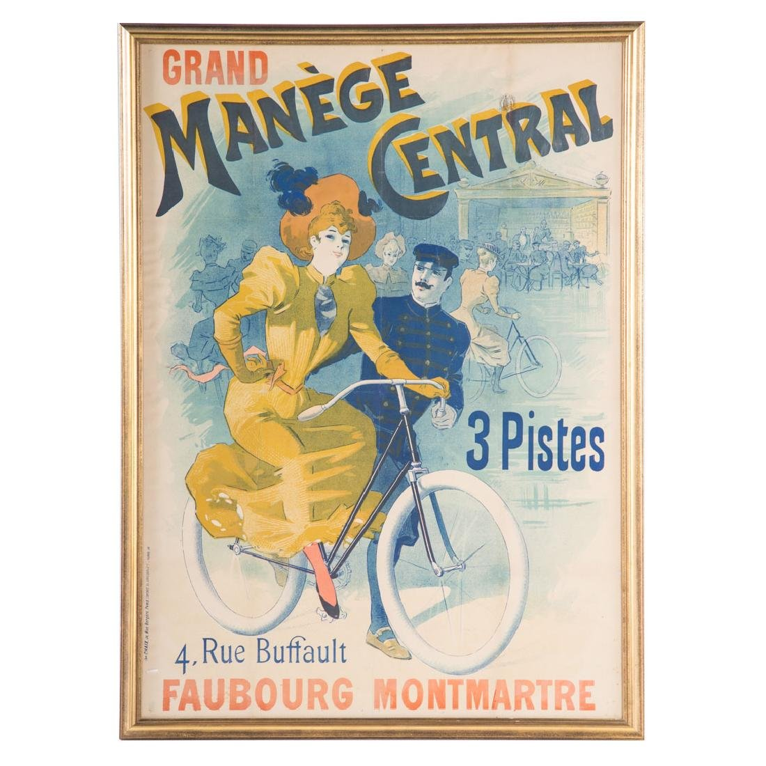 """Lucien Baylac. """"Grand Manege Central,"""" lithograph"""