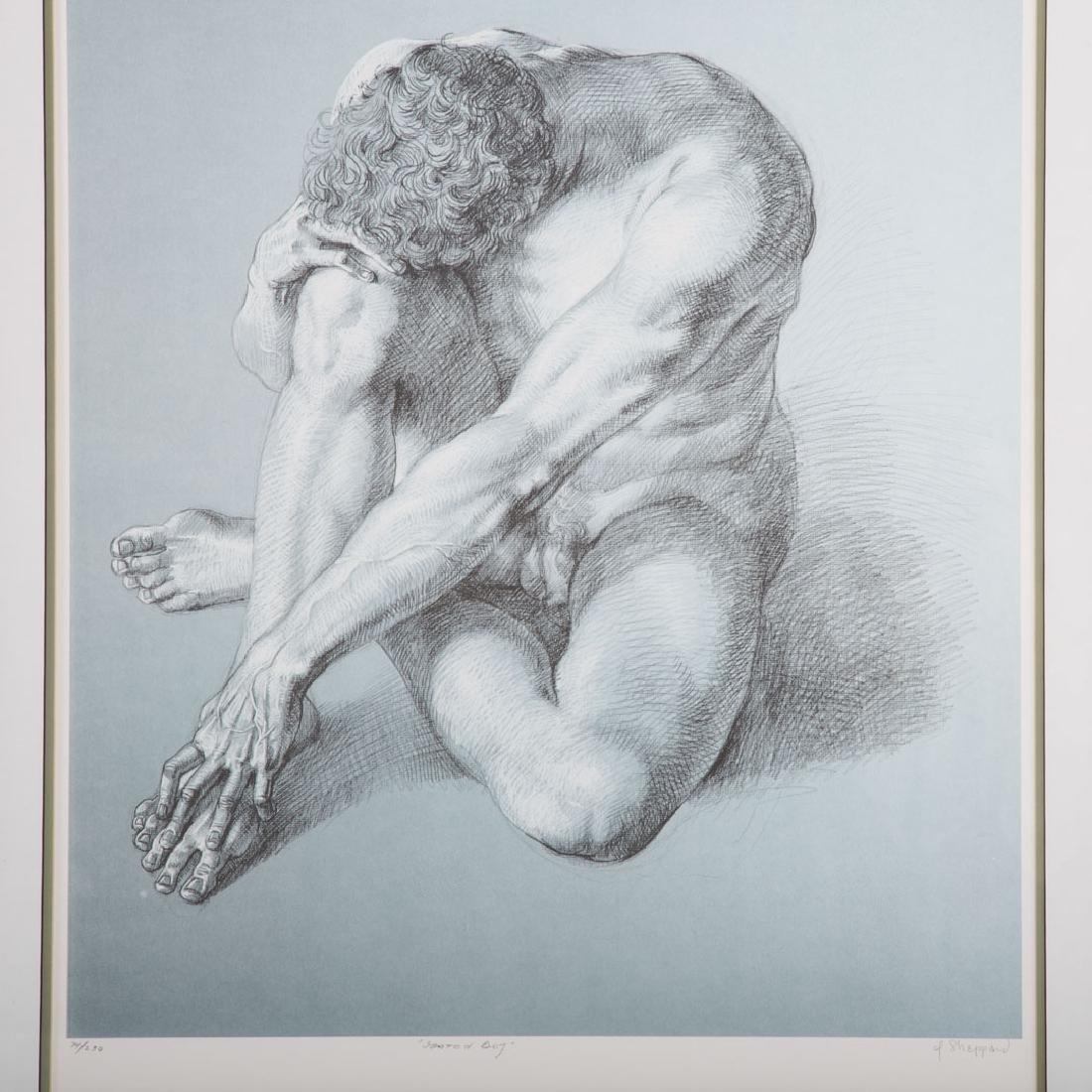"Joseph Sheppard. ""Seated Boy,"" offset lithograph - 2"