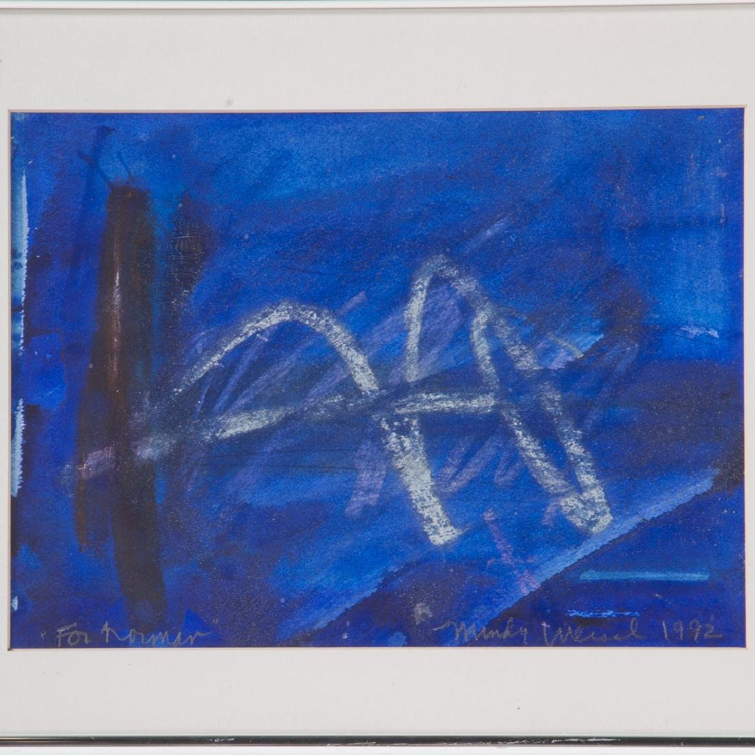 Mindy Weisel. Abstract, mixed media on paper - 2