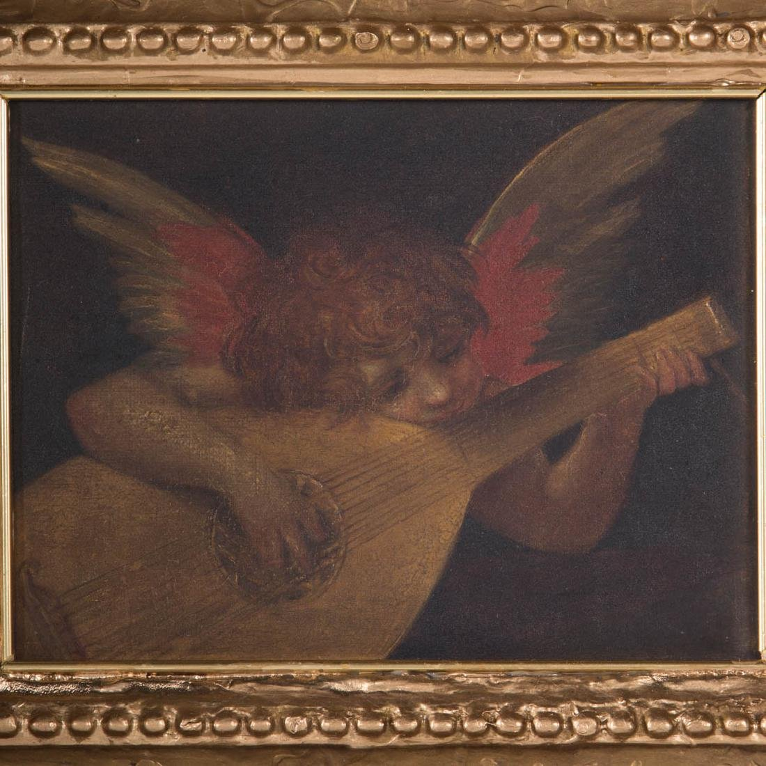 A.S. Martelli. Angel Playing Lute, oil on canvas - 2