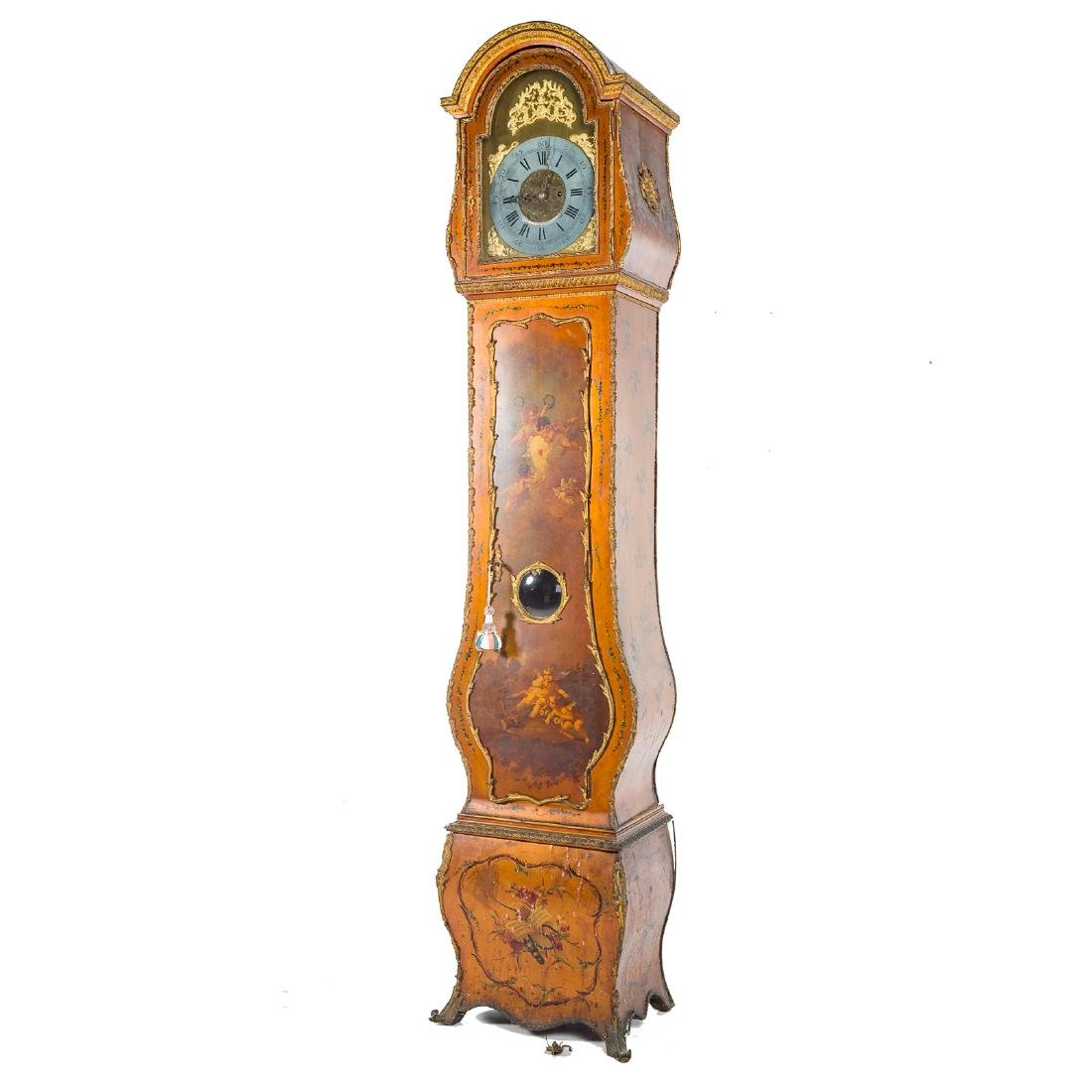 Louis XV style Vernis Martin bombe tall-case clock - 2
