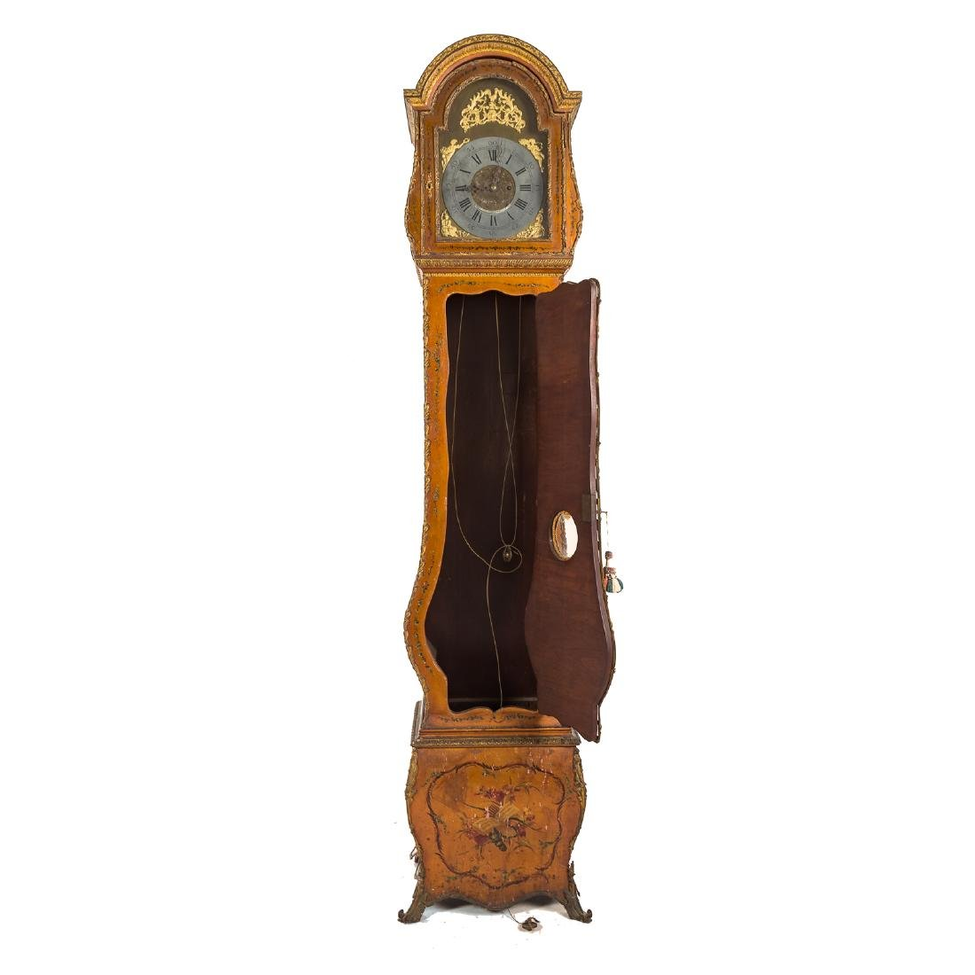 Louis XV style Vernis Martin bombe tall-case clock - 6