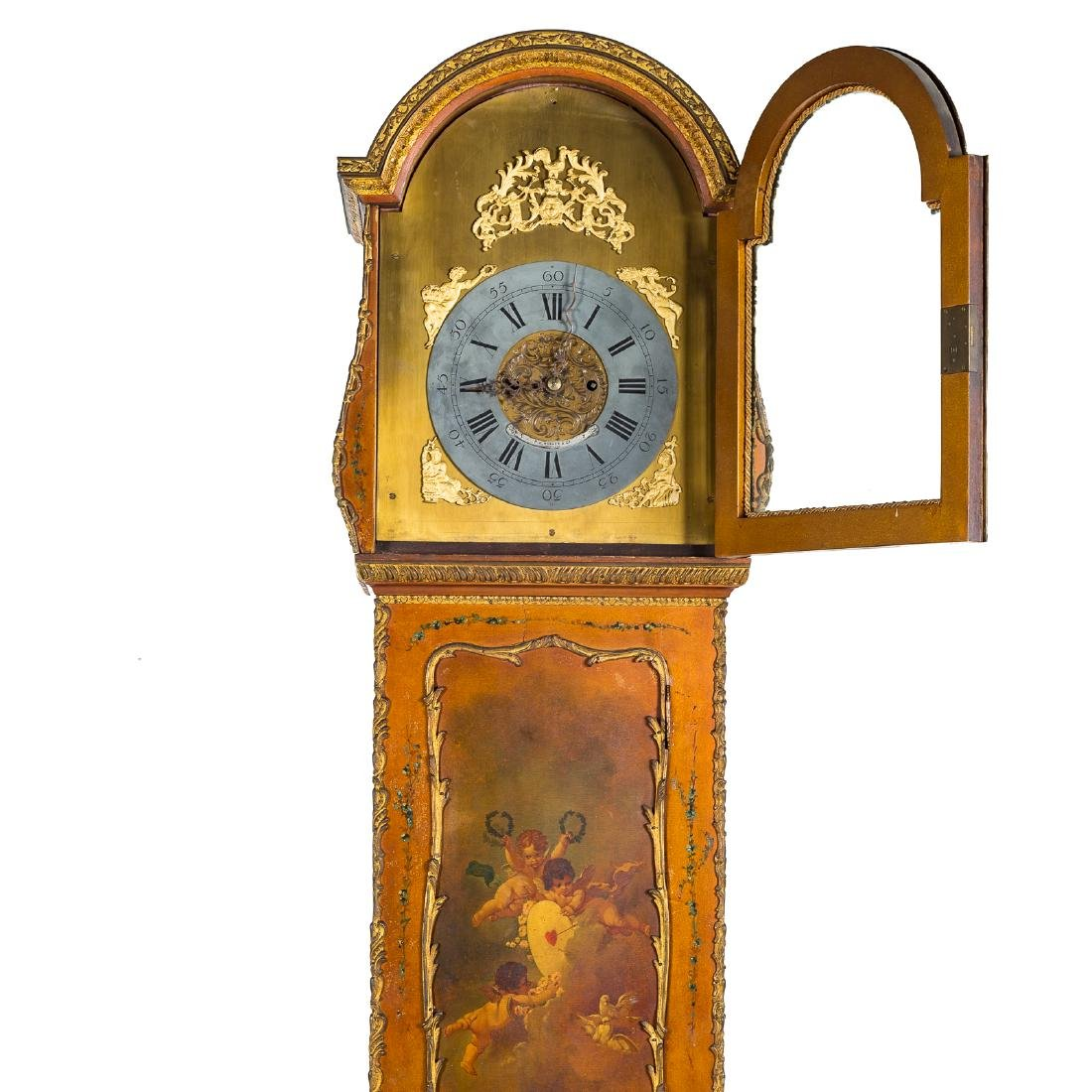 Louis XV style Vernis Martin bombe tall-case clock - 7