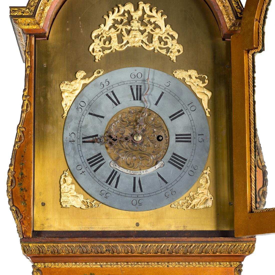 Louis XV style Vernis Martin bombe tall-case clock - 8