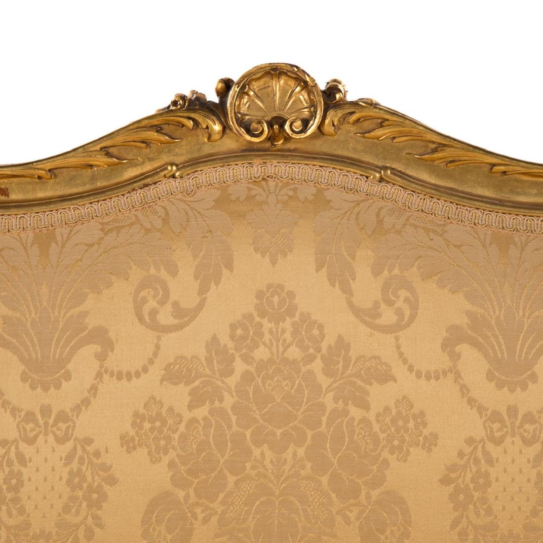 Louis XV style carved giltwood parlor suite - 10