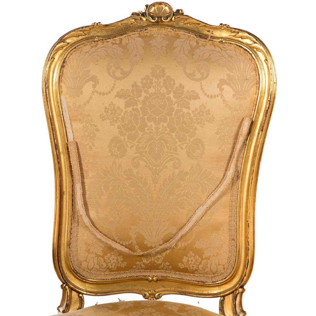 Louis XV style carved giltwood parlor suite - 5