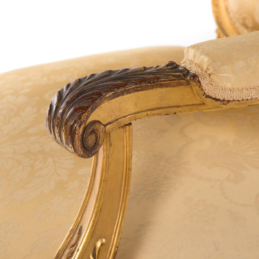 Louis XV style carved giltwood parlor suite - 6