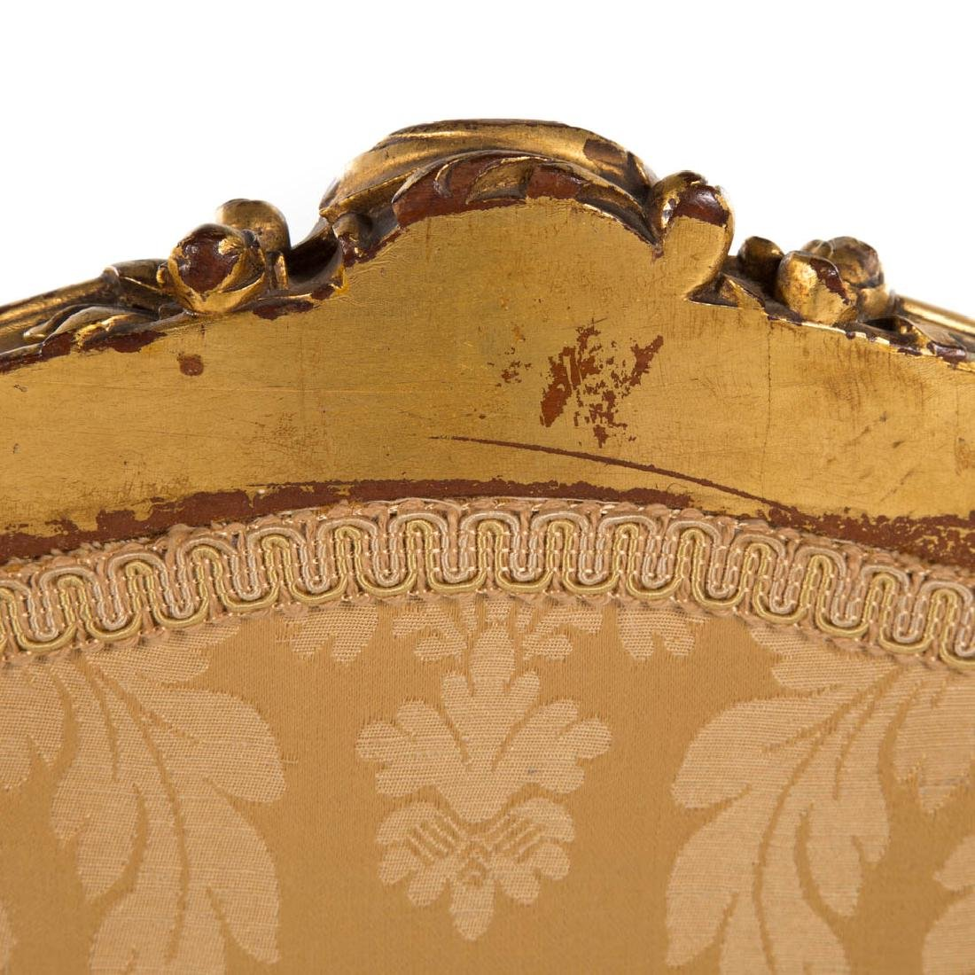 Louis XV style carved giltwood parlor suite - 7