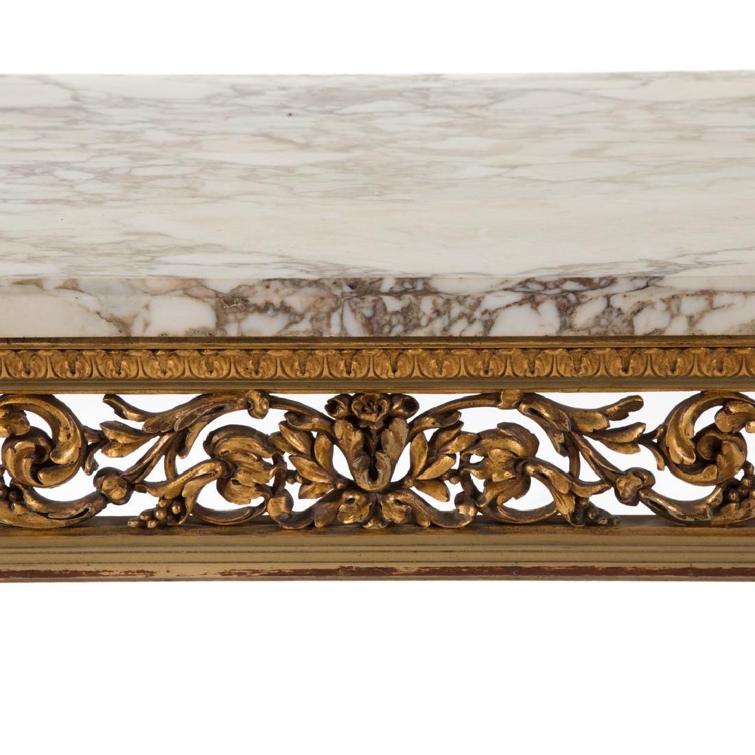 Louis XIV style painted parcel-gilt console table - 3