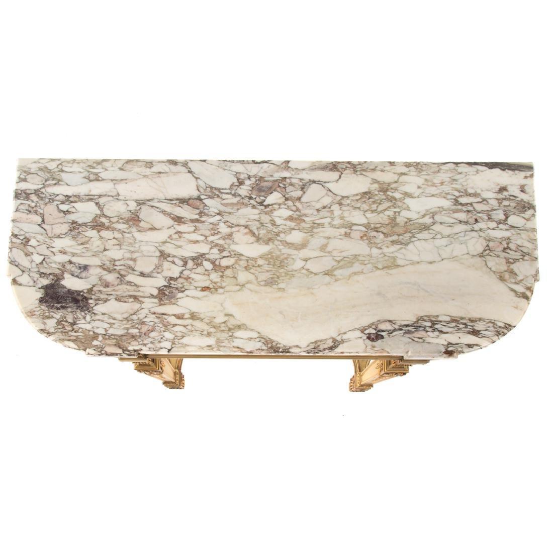 Louis XIV style painted parcel-gilt console table - 4