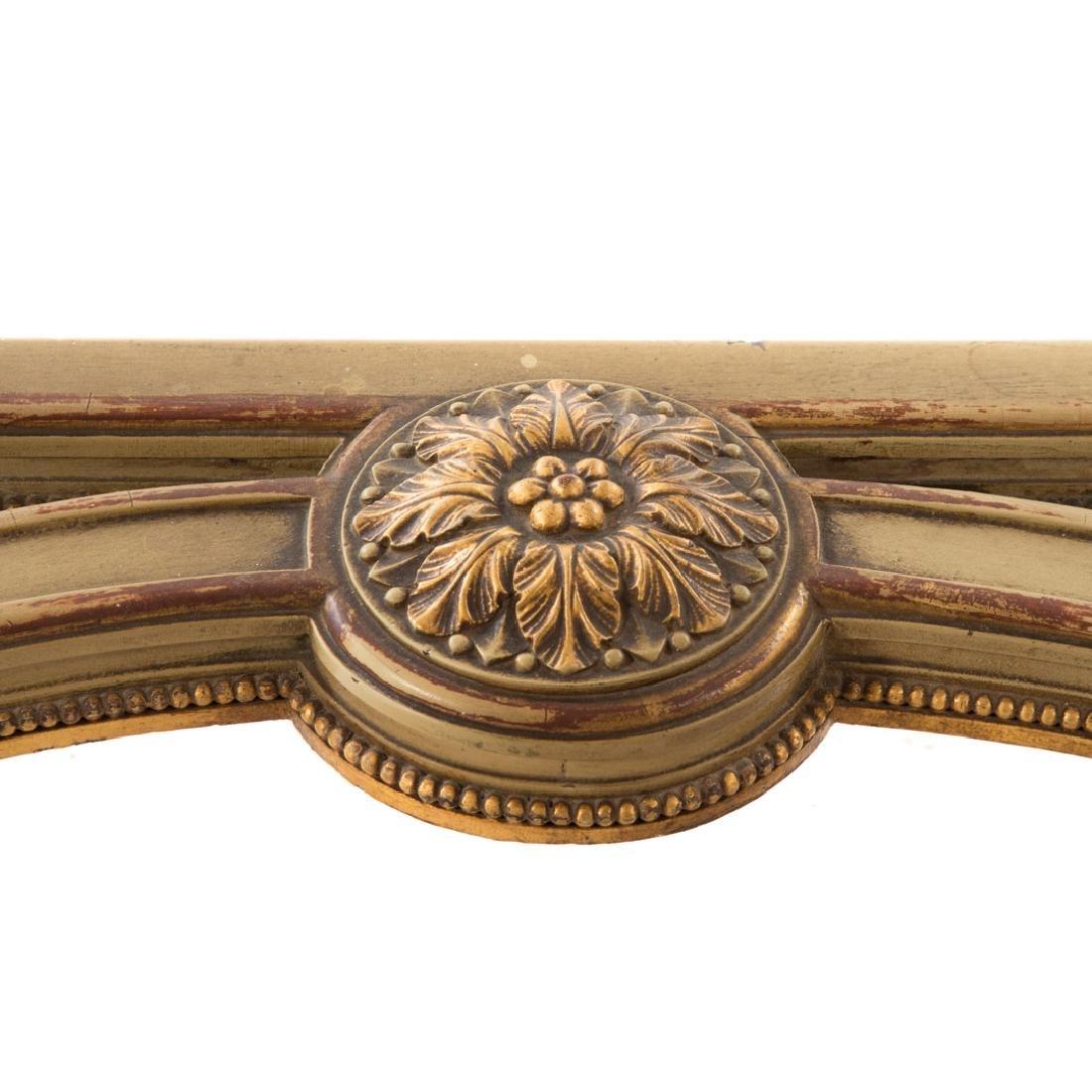 Louis XIV style painted parcel-gilt console table - 5