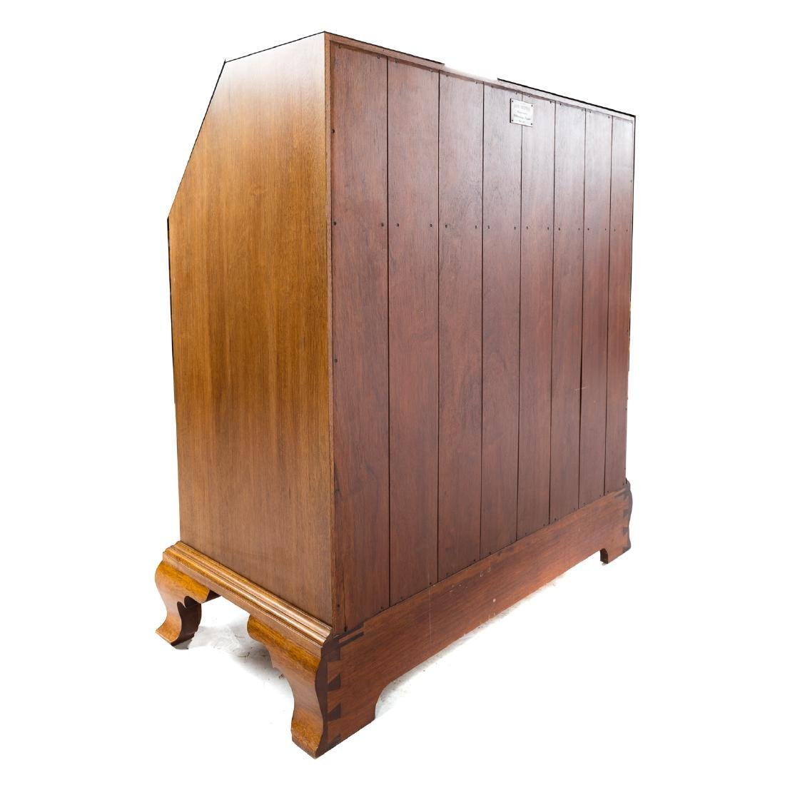 Cabinet made Chippendale style mahogany desk - 7