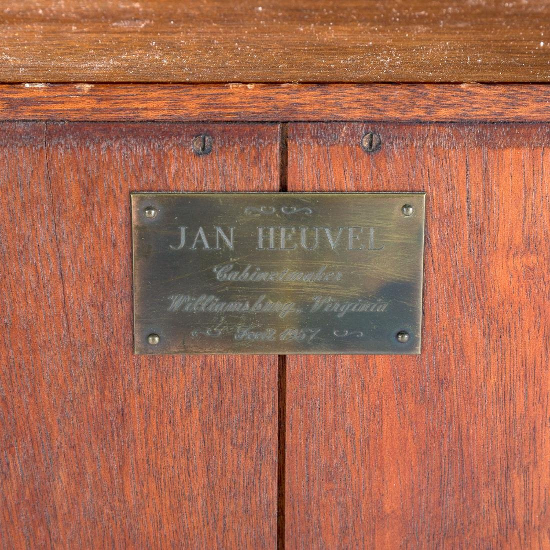Cabinet made Chippendale style mahogany desk - 8