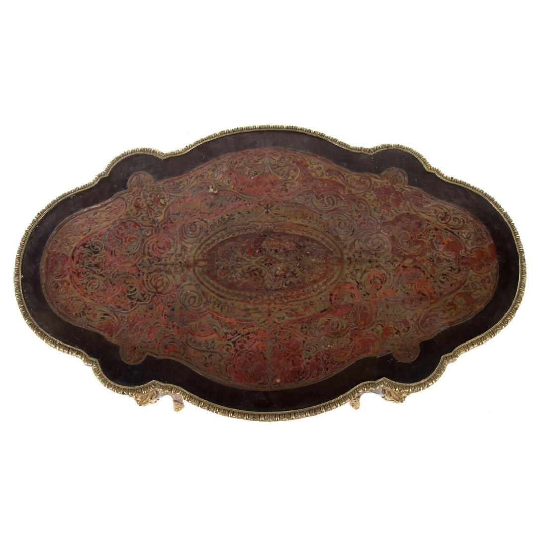 Napoleon III Louis XIV style Boulle table du salon - 3