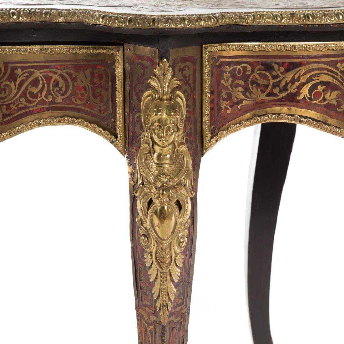 Napoleon III Louis XIV style Boulle table du salon - 5