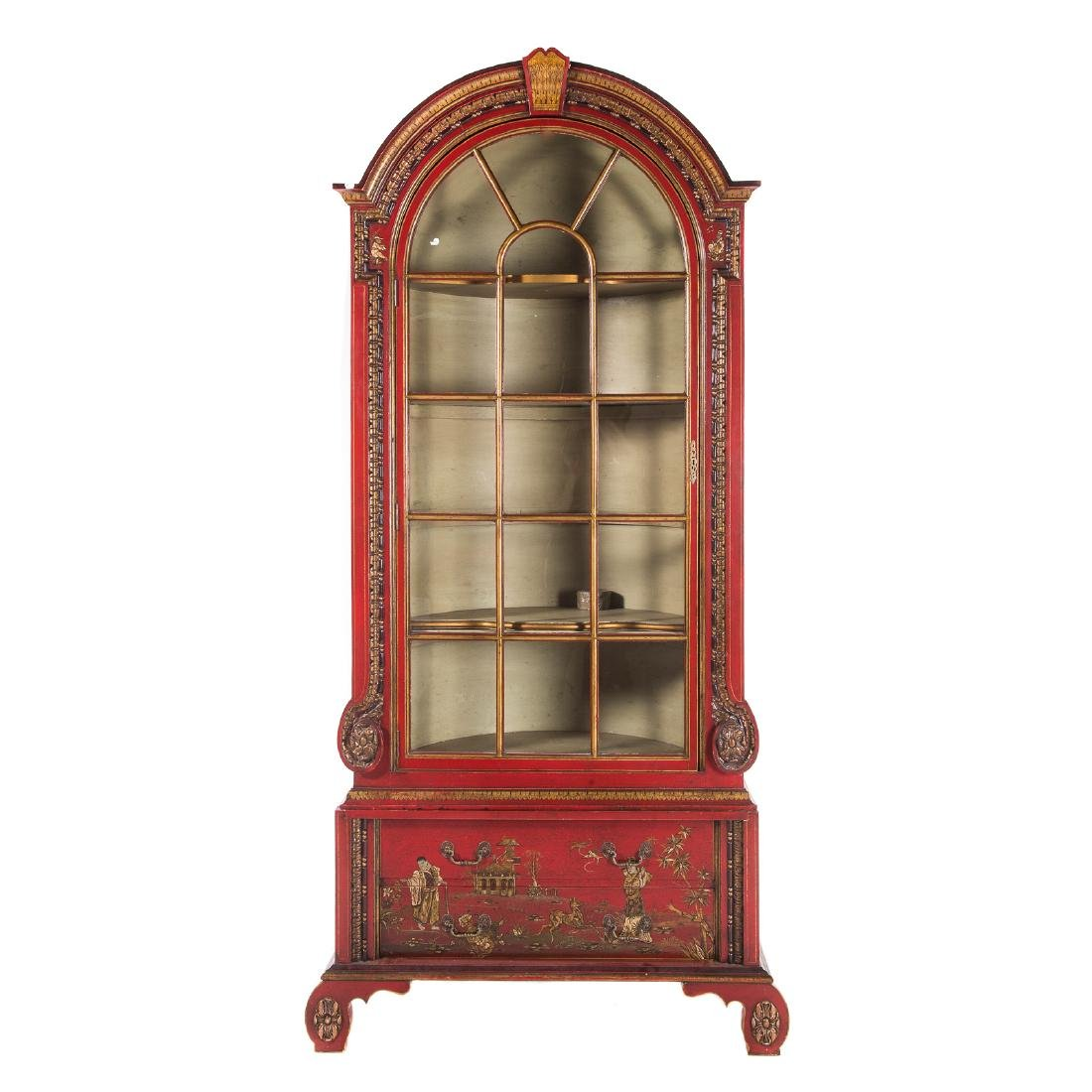 George I style Chinoiserie decorated cabinet