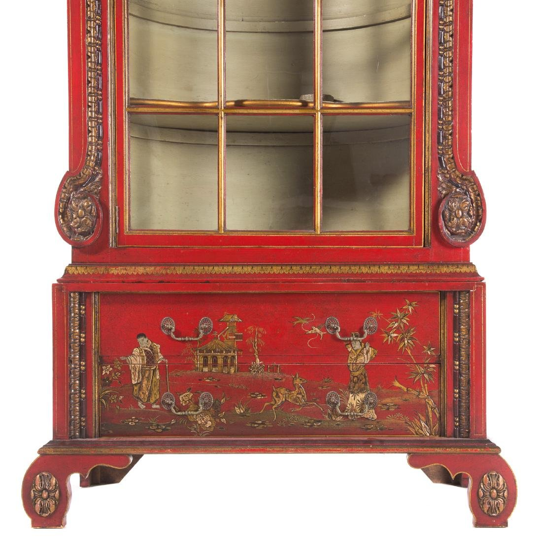 George I style Chinoiserie decorated cabinet - 2