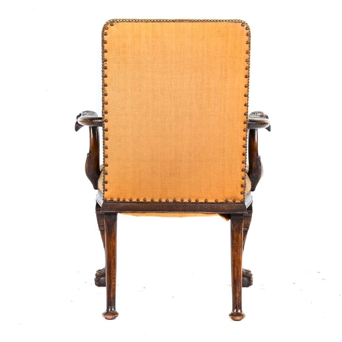 George II style walnut upholstered armchair - 6