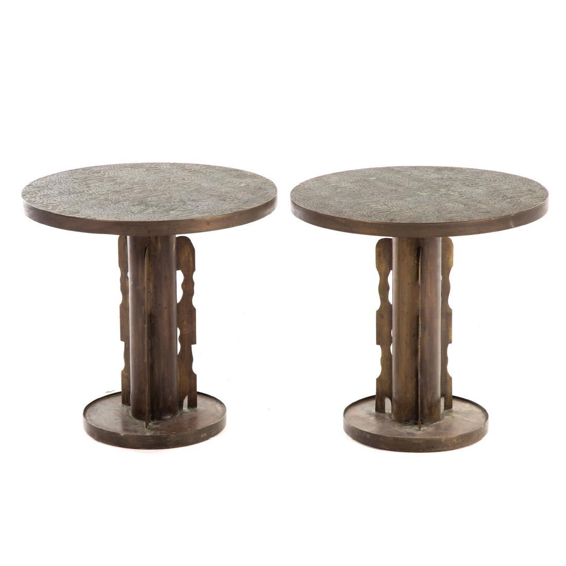 Pair Philip & Kelvin Laverne side tables