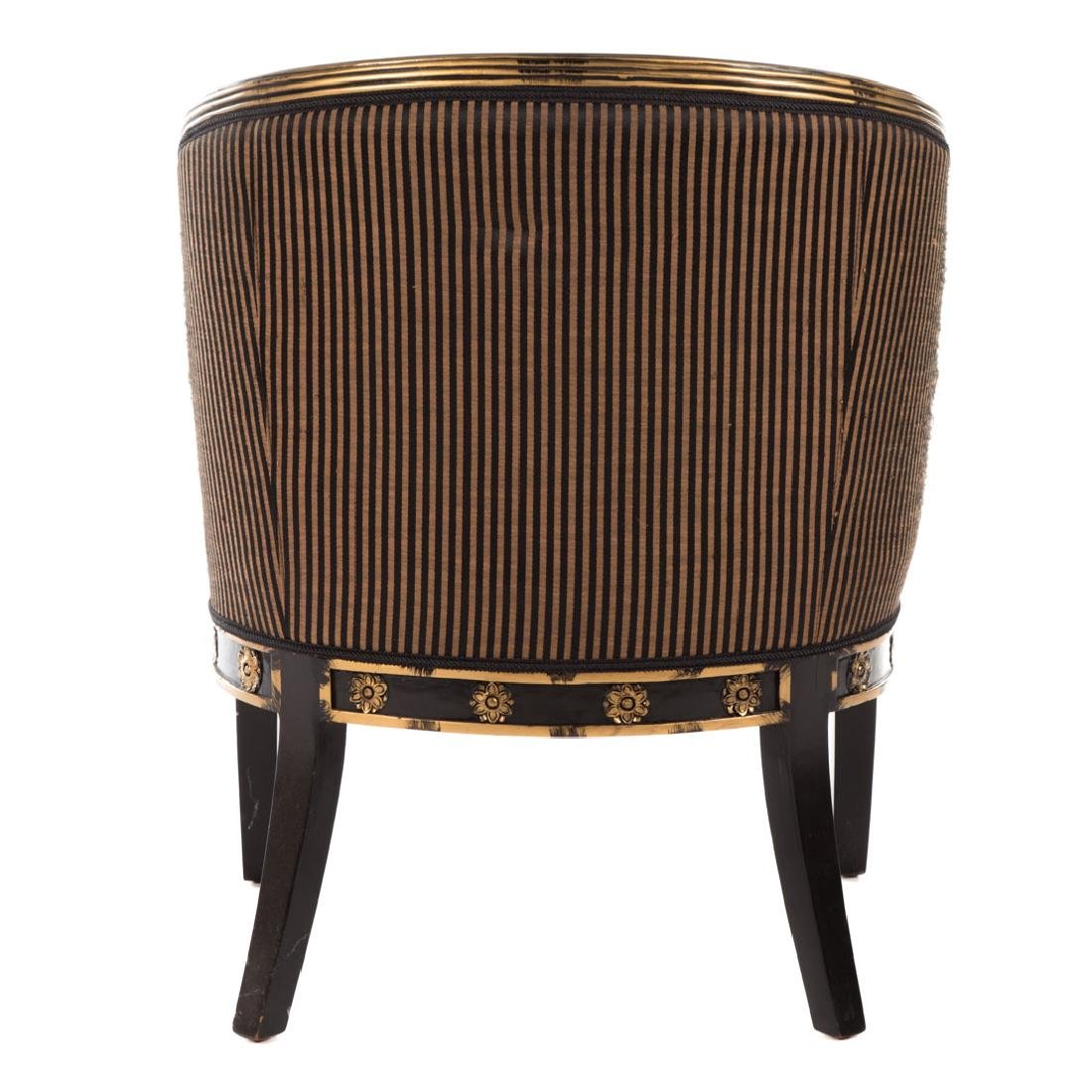 Empire style partial gilt upholstered bergere - 3