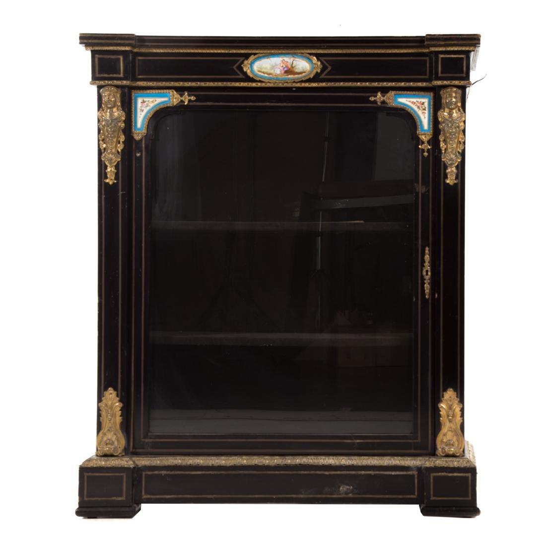 Napoleon III ebonized wood bibliotheque