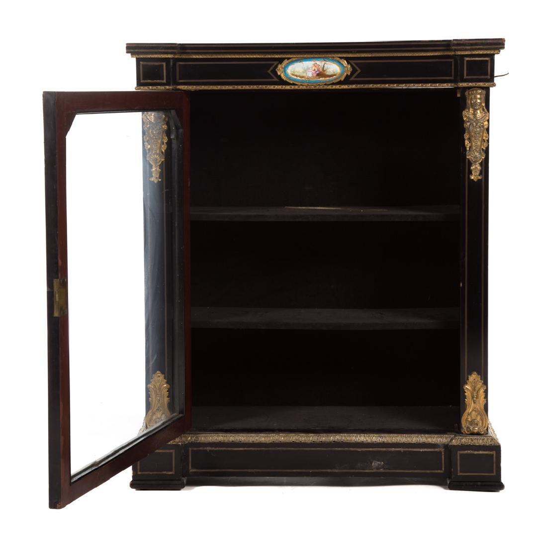 Napoleon III ebonized wood bibliotheque - 2