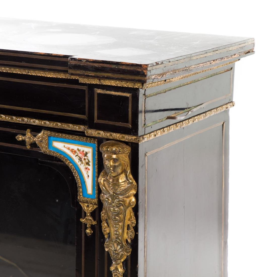 Napoleon III ebonized wood bibliotheque - 6
