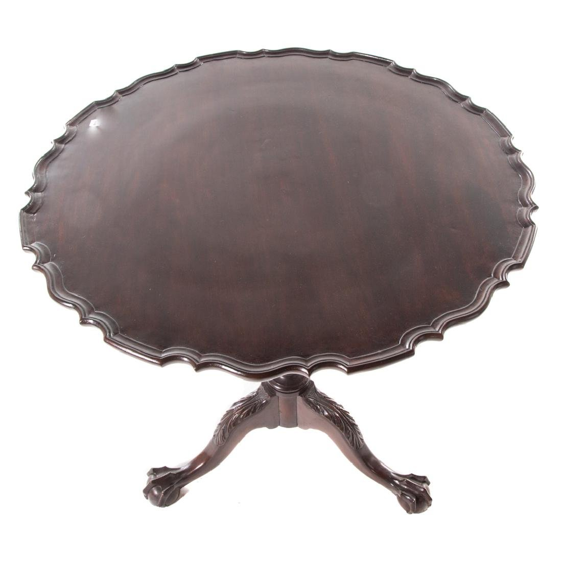 Chippendale style carved mahogany tilt-top table - 3