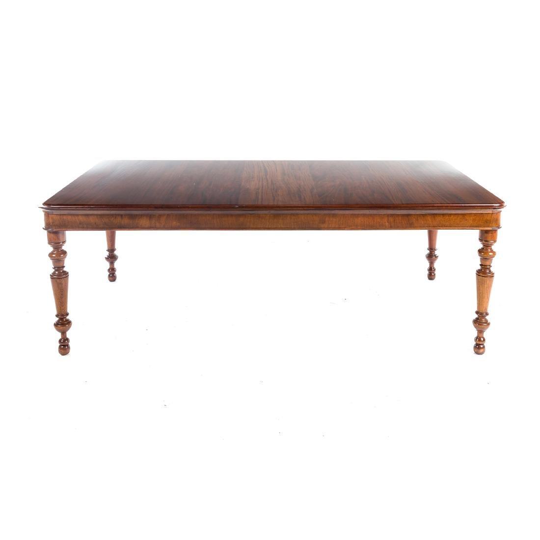 Cabinet made mahogany harvest table