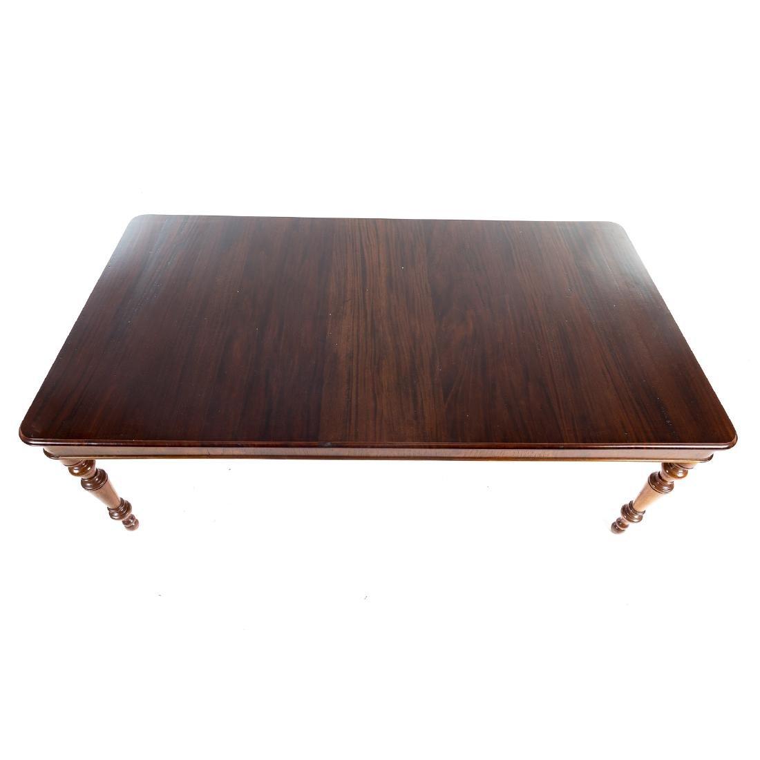 Cabinet made mahogany harvest table - 2