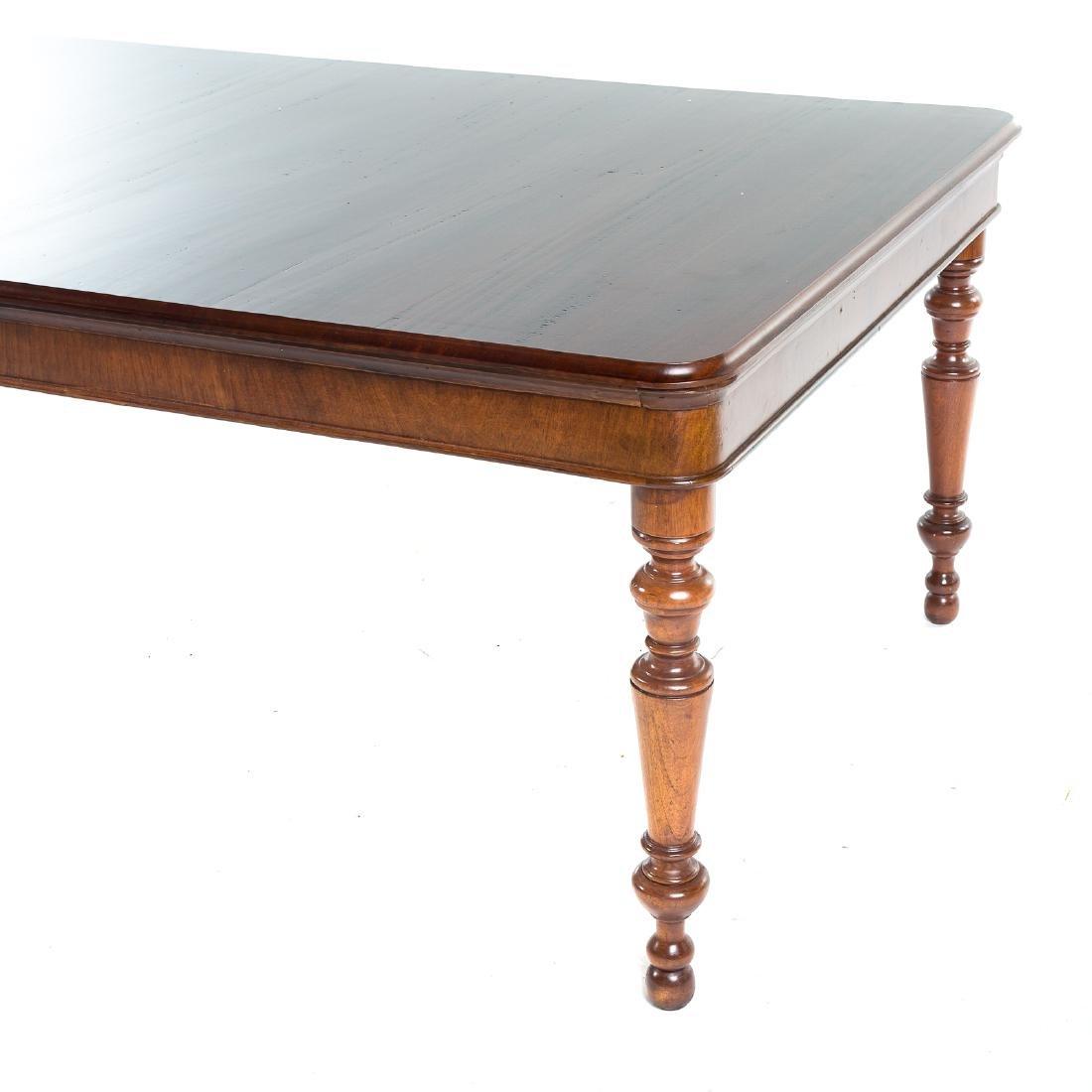 Cabinet made mahogany harvest table - 3