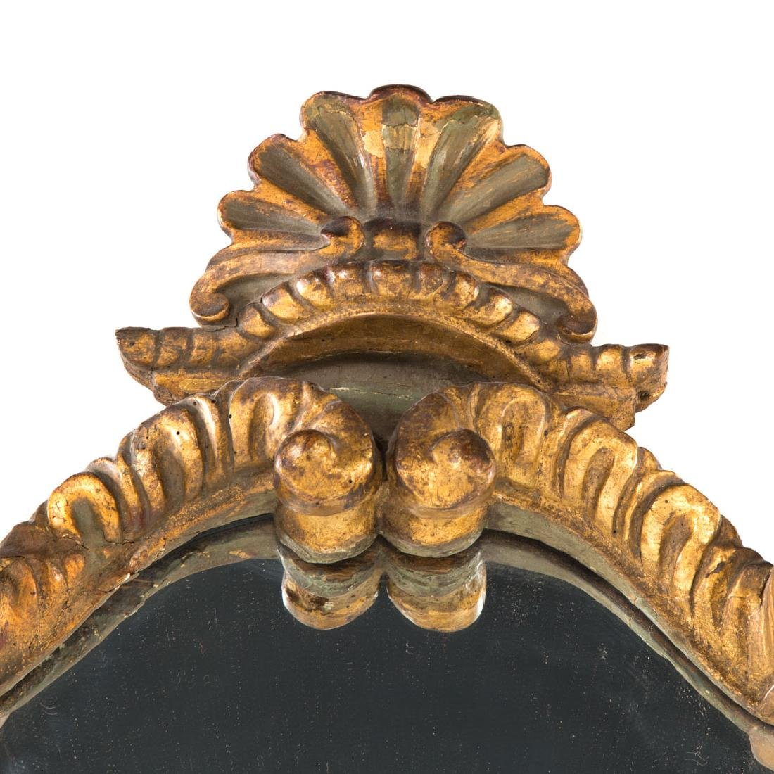 Italian Baroque style carved giltwood mirror - 2