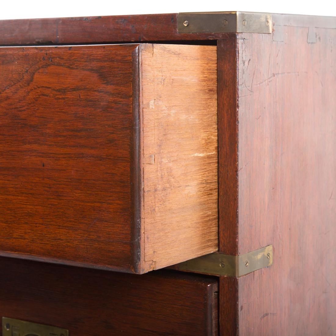 Victorian elmwood campaign chest - 2
