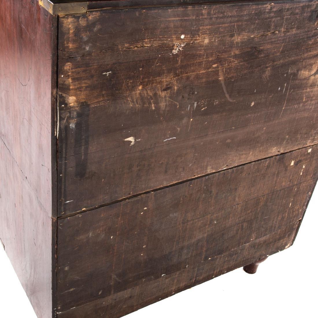Victorian elmwood campaign chest - 3