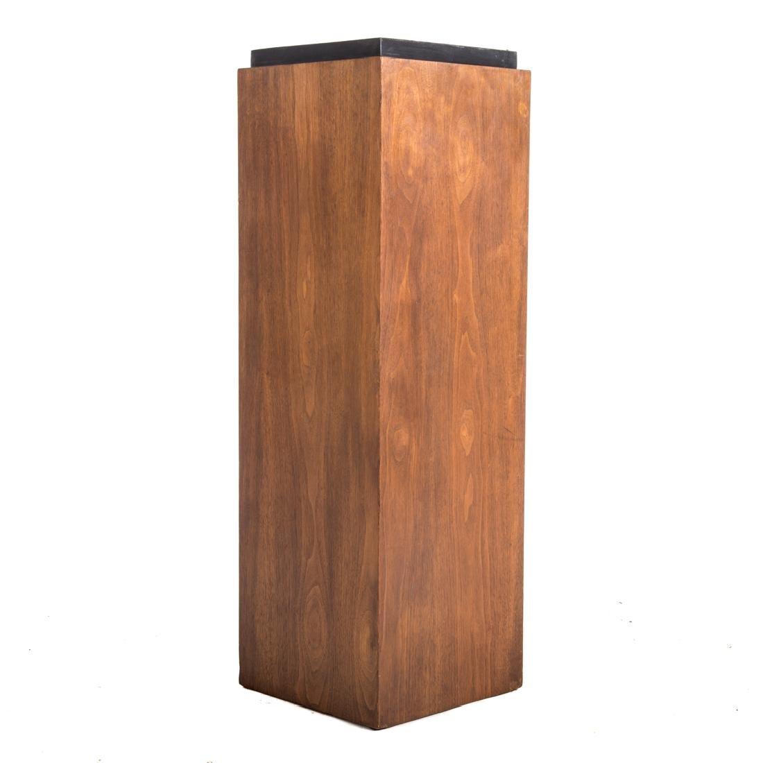 Contemporary walnut pedestal