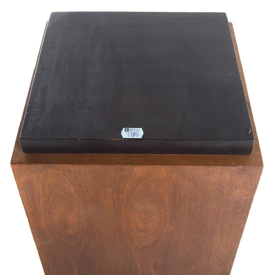 Contemporary walnut pedestal - 2