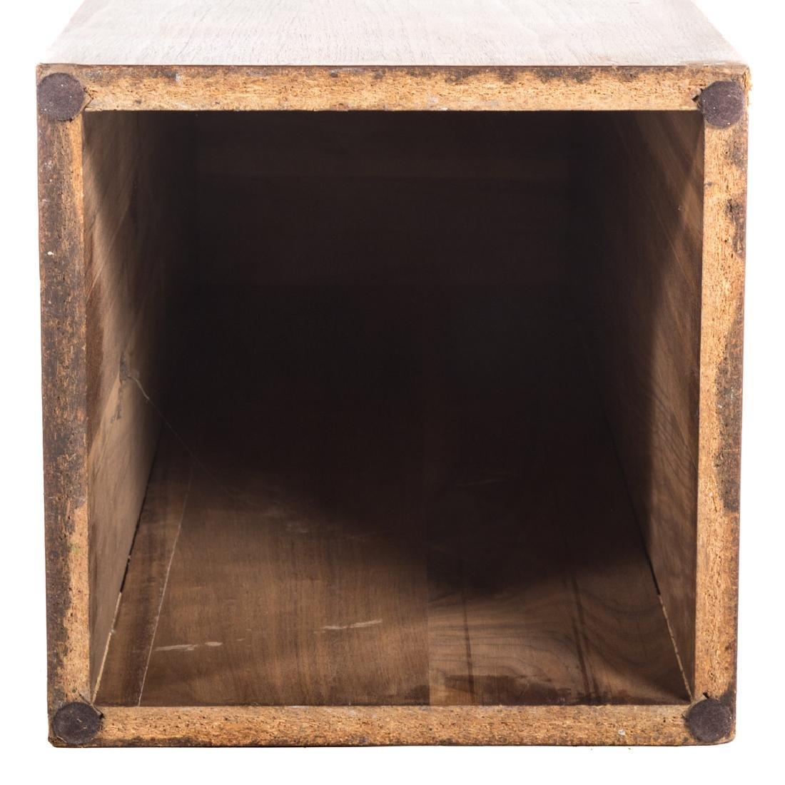Contemporary walnut pedestal - 3