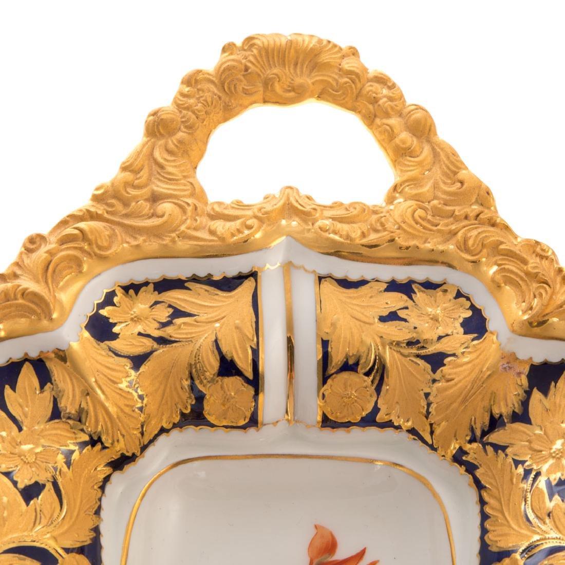 Meissen porcelain dish and beaker vase - 4