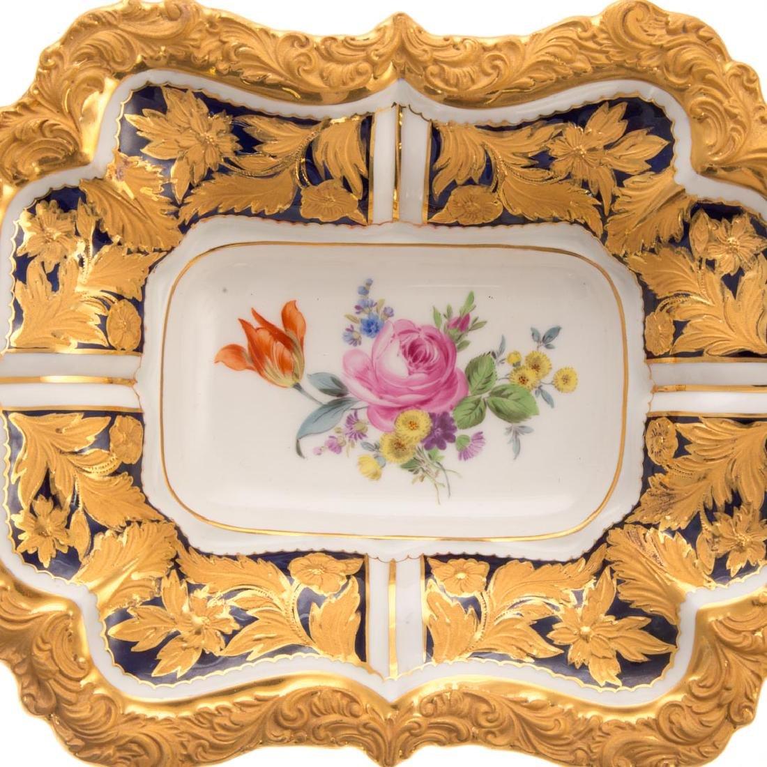 Meissen porcelain dish and beaker vase - 5