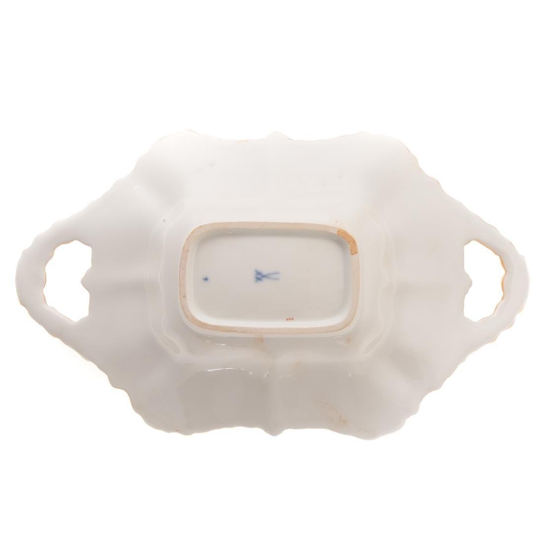Meissen porcelain dish and beaker vase - 6