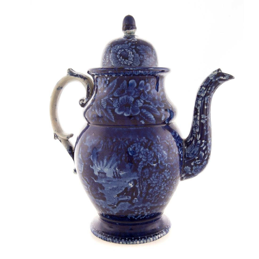 Enoch Woods Staffordshire Lafayette coffee pot