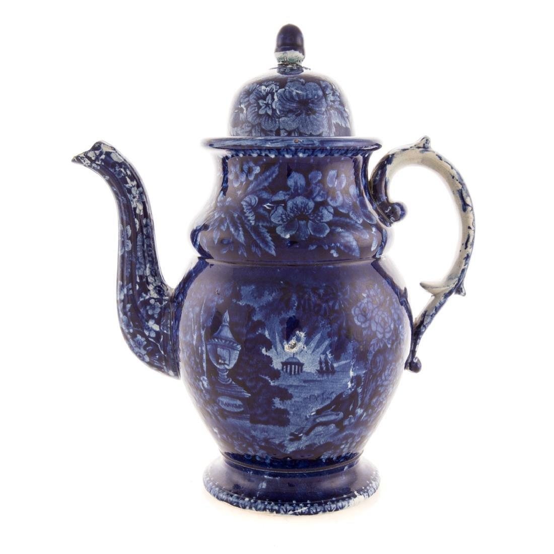 Enoch Woods Staffordshire Lafayette coffee pot - 2