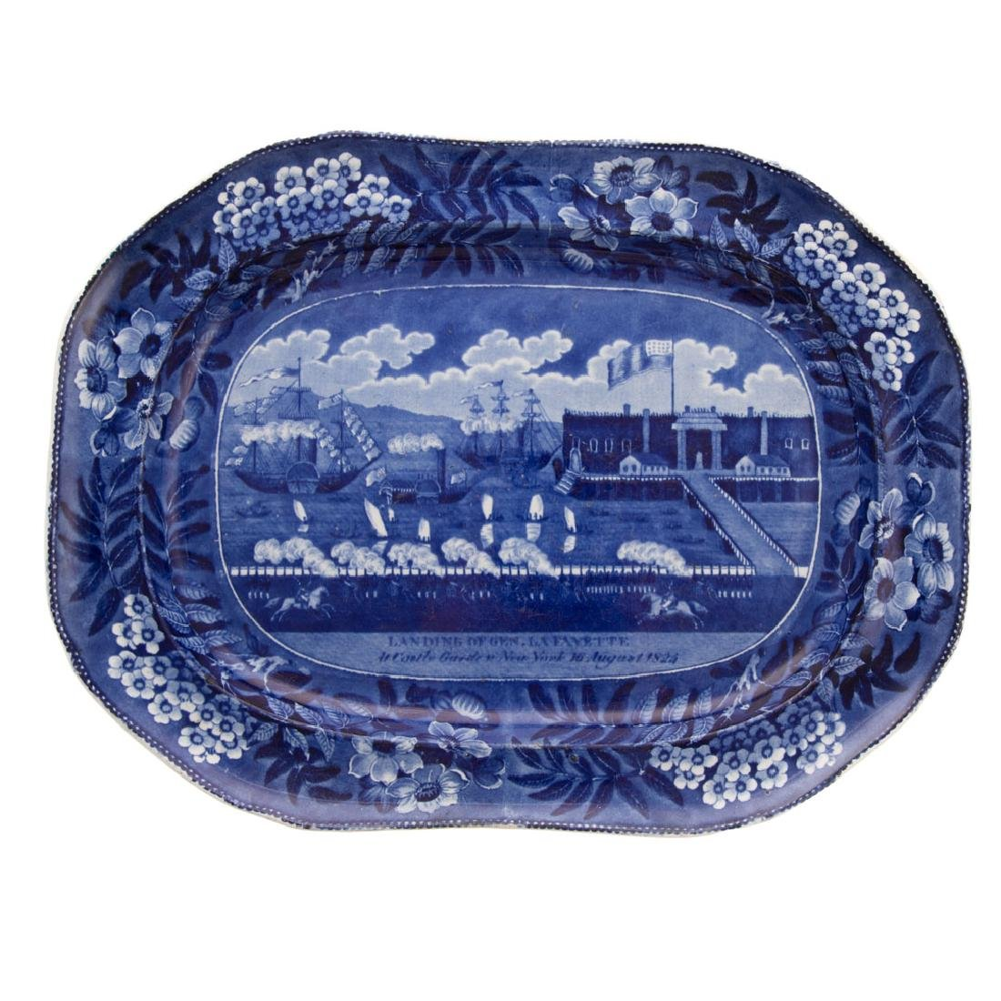 Clews Staffordshire, Landing of Lafayette platter