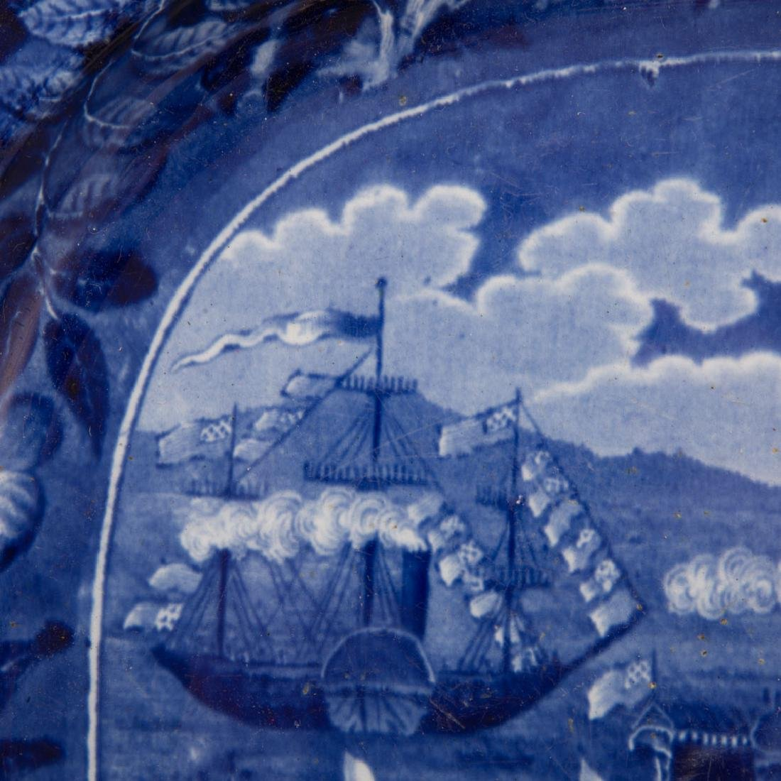 Clews Staffordshire, Landing of Lafayette platter - 2