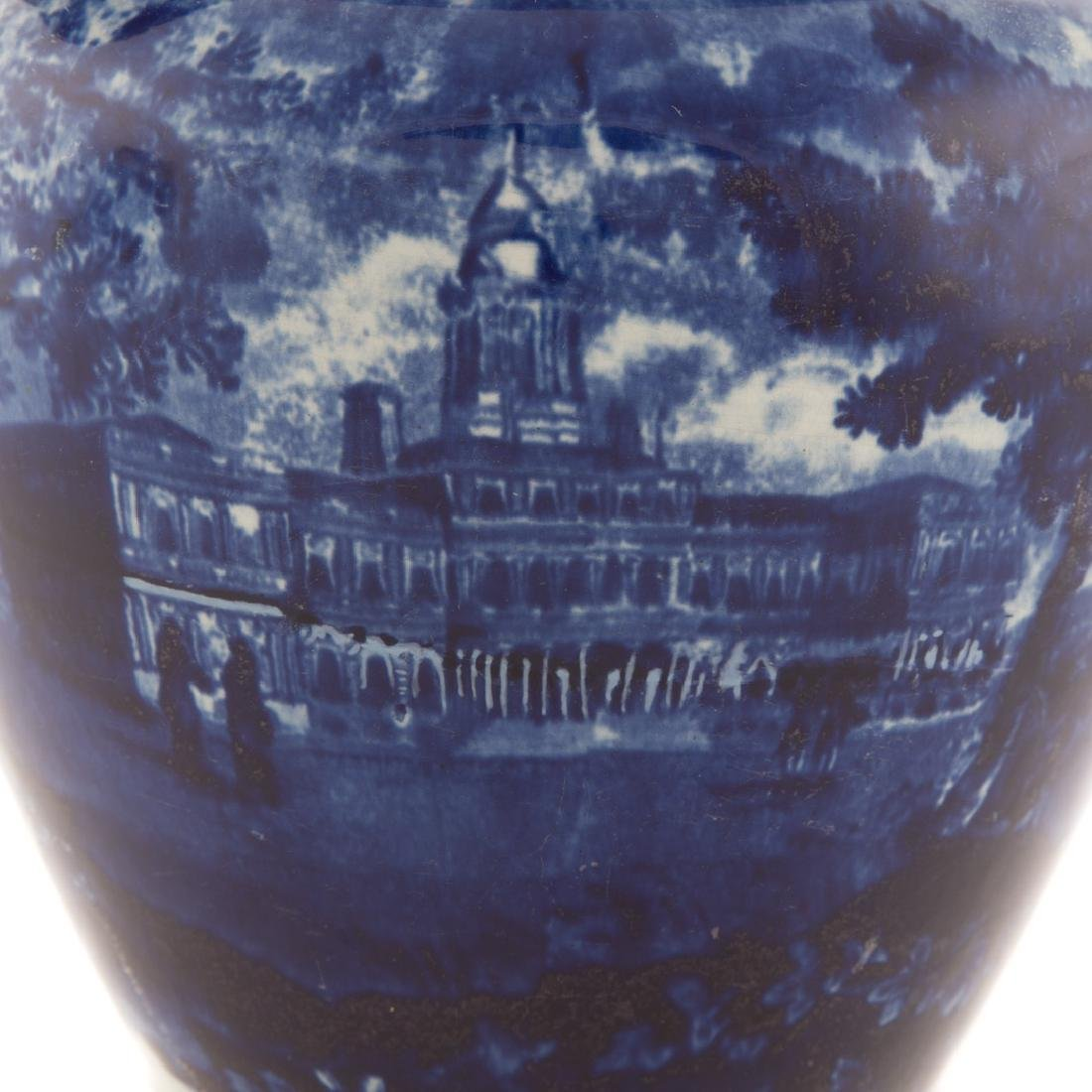 Staffordshire blue pitcher, New York City Hall - 4