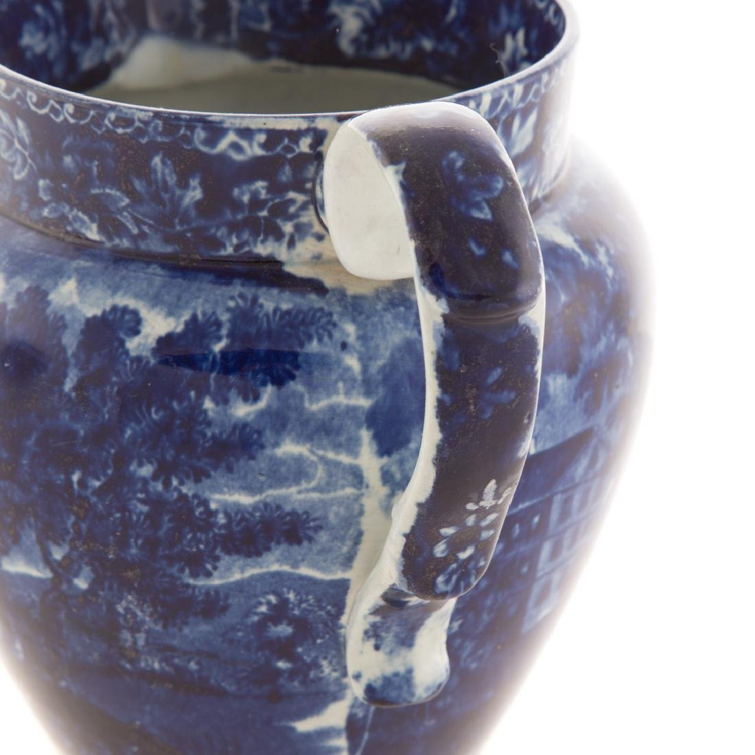 Staffordshire blue pitcher, New York City Hall - 7