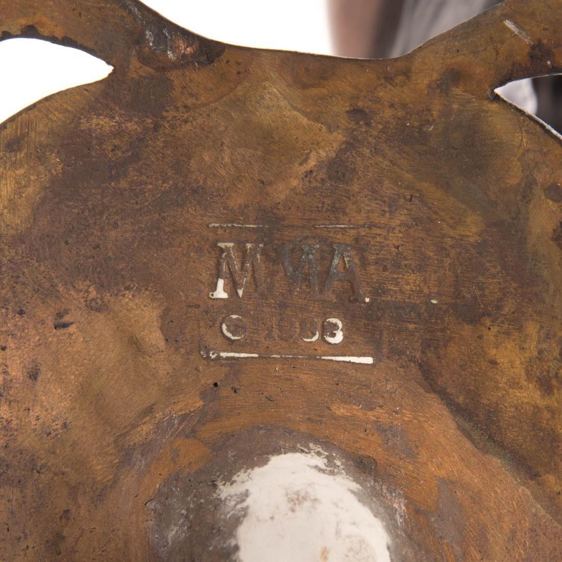 MMA Art Nouveau style bronze figural candleholder - 7