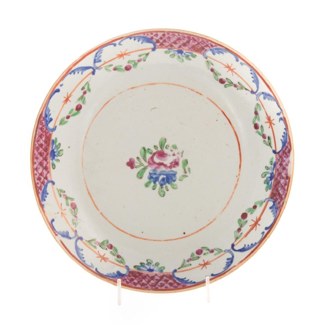 Six Chinese Export porcelain plates - 2