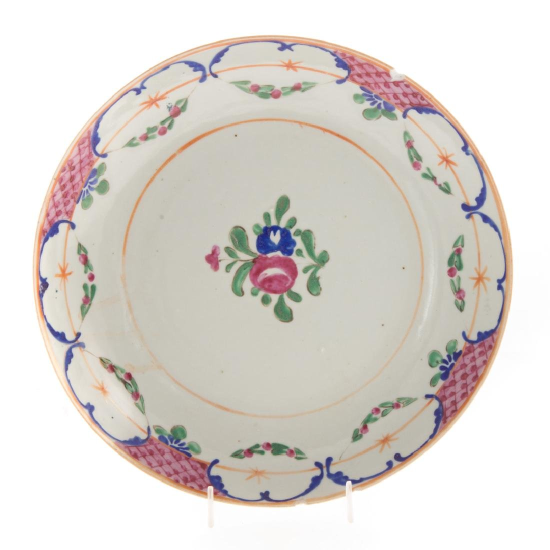 Six Chinese Export porcelain plates - 3