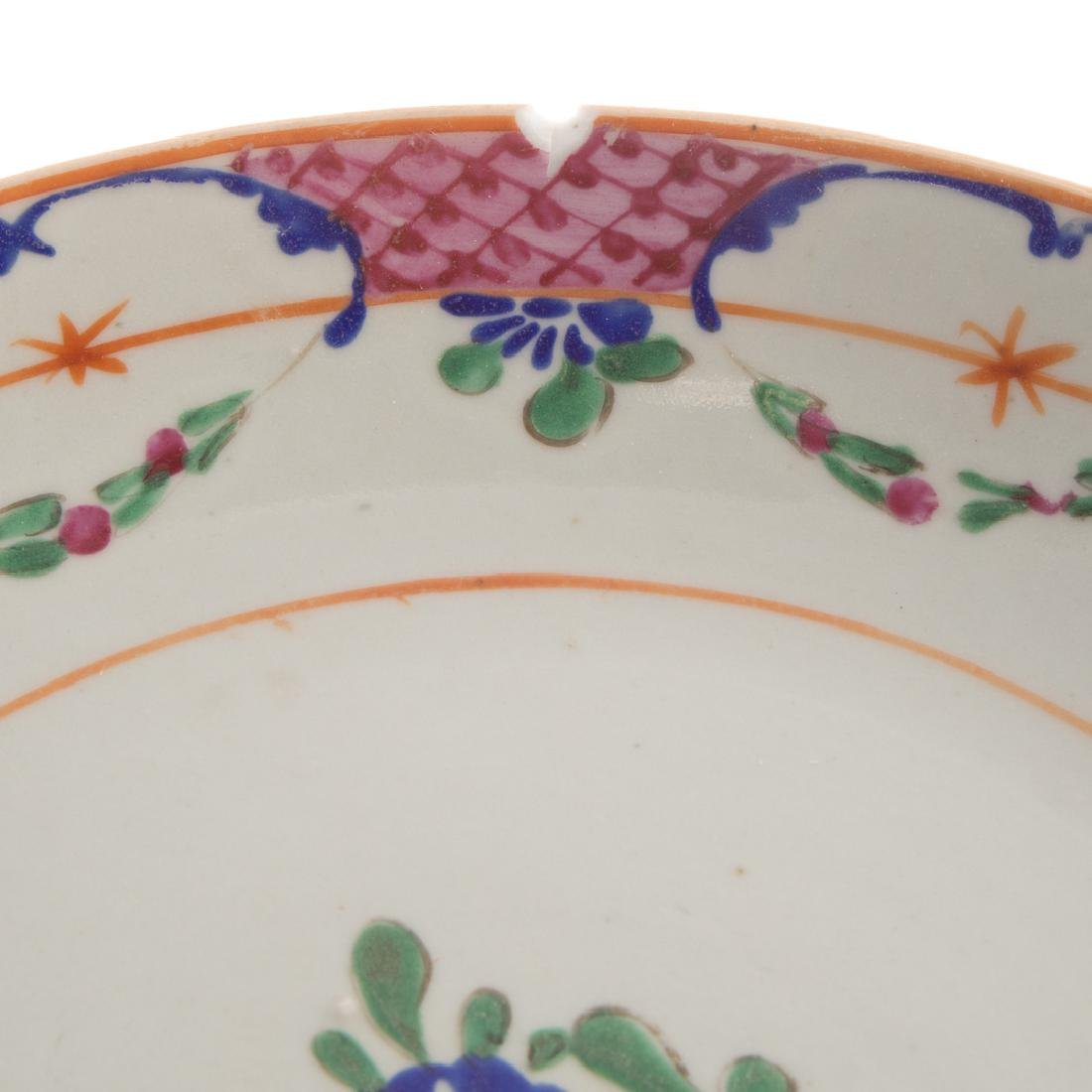 Six Chinese Export porcelain plates - 4